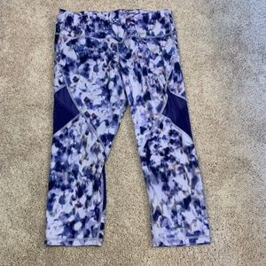 Old Navy Purple Tie Die Capri Leggings